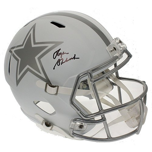 Roger Staubach Autographed Dallas Cowboys Alternate ICE Full Size Speed Replica Helmet - JSA Certified Authentic