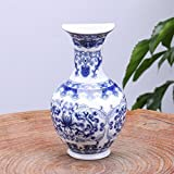 Decor Bedroom M and F 1 PC Wall Mount Chinese Ceramic Blue White Porcelain Flower Vase Hanging Plant Receptacle Container Home Decoration Accessories