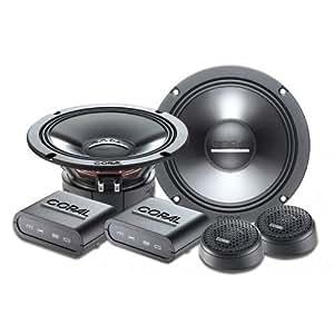 Coral Electronic MK 165 altavoz audio - Altavoces para coche (De 2 vías, 92 Db, 240W, 16,5 cm, 4,9 cm) Negro
