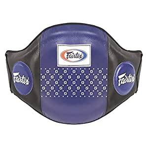 Fairtex Leather Boxing Muay Thai MMA Training Kick Shield Rib Guard Body Protector Belly Pad