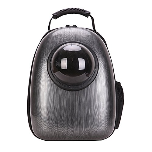 Against it Portable Pet Carrier Backpack Space Capsule PU Leather Dog Cat Small Animals Travel Bag Brown