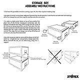 Storex Plastic Archive Storage Drawer, Letter