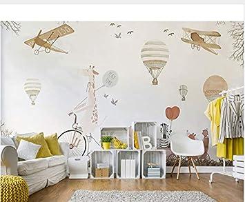 Känguru Flugzeug Ballon 3D Cartoon Wandaufkleber Für Kinderzimmer ...