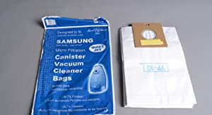 Samsung 9000 Series Canister Vacuum Micro Filter Paper Bags 5 Pk Part # 94-2425-01