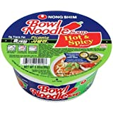 Nong Shim Bowl Noodle, Hot and Spicy, 3.03-Ounce Bowls (Pack of 12)
