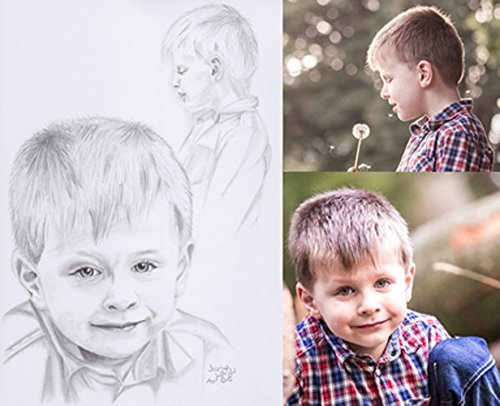 Hand drawn custom portrait according to your photograph by Keya Design