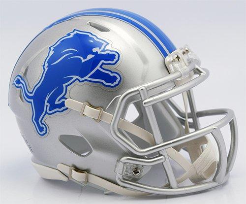 Riddell Revolution Speed Mini Helmet - Detroit Lions 2017 New Logo Detroit Lions Nfl Team Helmet