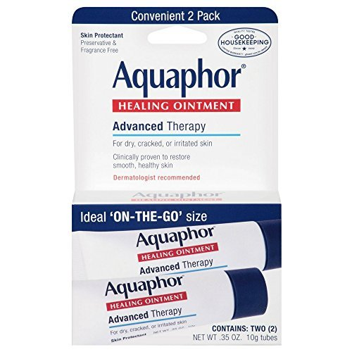Aquaphor Healing Skin Ointment, Advanced Therapy, 2 Pack, 0.35 oz ea (Pack of - Skin Therapy Ointment
