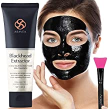 Black Peel Off Mask with Brush Blackhead Remover Purifying Black Mask, Activated Charcoal Deep Cleansing Facial Acne Pore Cleaner 80g