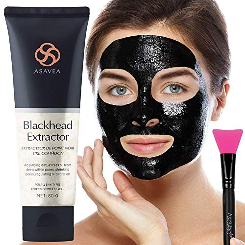 Black Peel Off Mask with Brush Blackhead Remover Purifying Black Mask