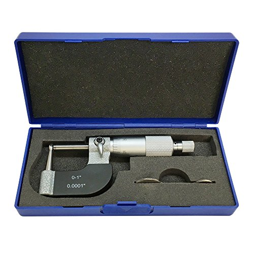"PROLINEMAX 0-1"" Tube Micrometer 0.0001"" Graduation Carbide Tipped Neck Ball Spherical Anvil"