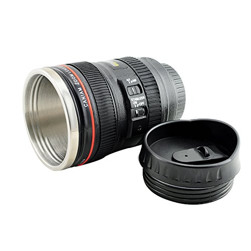 ixaer Hot Sale Stainless Lens Thermos Camera Travel Coffee Tea Mug Cup by ixaer (Image #3)