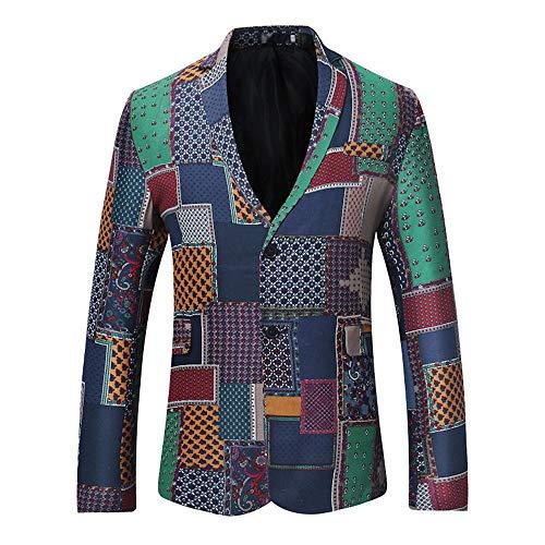 Disco Sports Coupon (Realdo Mens Bohemian Blazer, Business Casual Boho Slim Long Sleeve Fit Print Suit Top)