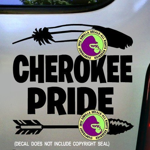 CHEROKEE PRIDE Native American Vinyl Decal Sticker B