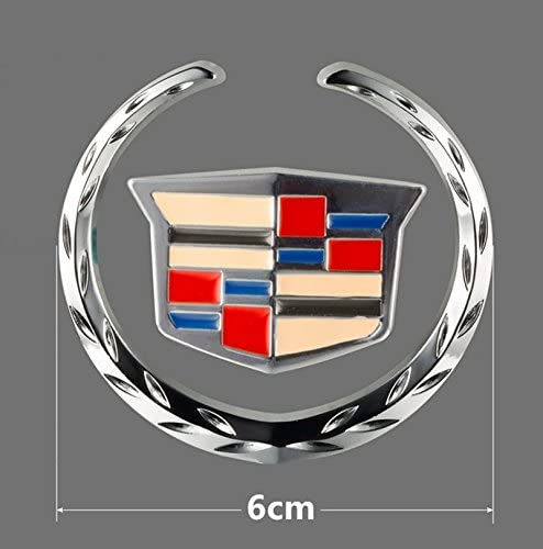 6cm Zinc Alloy 3D Sign Emblem 3M Badge Sticker for Apply to Cadillac Ycsm 2 Pcs Size