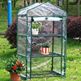 Arcadia Garden Products GH03 3-Tier Mini Greenhouse, 26.5 by 19 by 49''