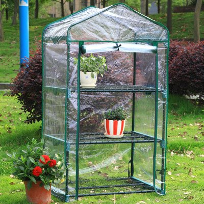 Arcadia Garden Products GH03 3 Tier Mini Greenhouse, 26.5 By 19 By 49u0027