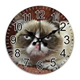 Cheap Unique Quiet Arabic Numbers Round Wall Clock Creative Time Frameless Decorative Diameter 11.8 Inch