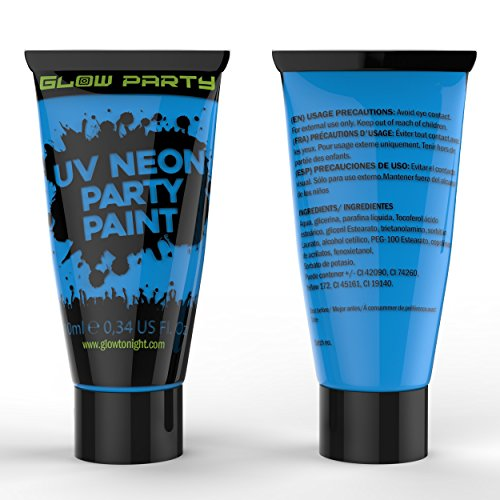 Glow Party UV Blacklight Glow Paint-Face Body Paint-UV Reactive Neon Glow Makeup...