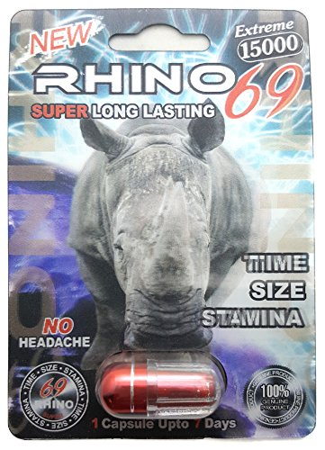 Rhino 69 Sex Pills   15 000 All Natural Male Enhancement Formula  6 Pack