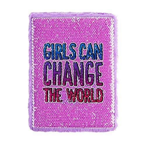 67a34b2bc028 3C4G Girls Can Change the World Magic Sequins Journal - Changes Design with  Your Fingertips (36057)