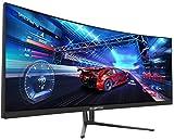 Sceptre C355W-3440UN 35 Inch Curved UltraWide 21: 9 LED Gaming Monitor QHD 3440x1440 Frameless AMD Freesync HDMI DisplayPort Up to 100Hz, Machine Black 2020
