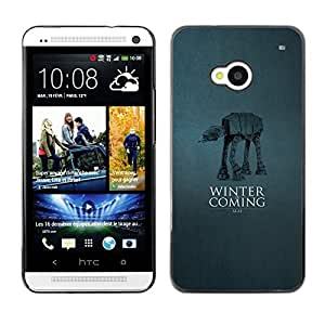 LECELL--Funda protectora / Cubierta / Piel For HTC One M7 -- Winter Is Coming - A A --