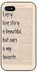 iPhone 4 / 4s Every love story is beautiful, but ours is my favorite - black plastic case / Life quotes, inspirational and motivational / Surelock Authentic by runtopwell