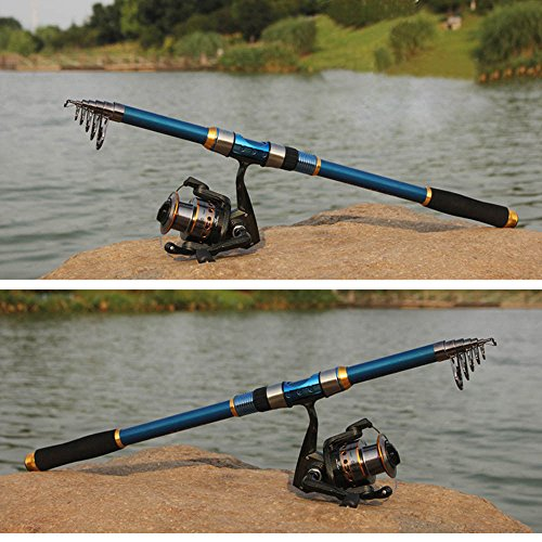 BB Professional Carbon Fiber Telescope Fishing Rod Travel Sea Spinning Pole 2.1m