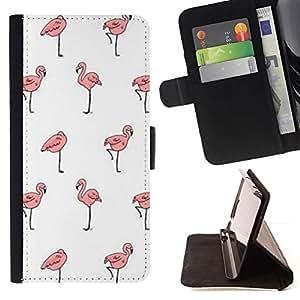 Momo Phone Case / Flip Funda de Cuero Case Cover - Fond d'écran Clean rose - Samsung Galaxy A5 ( A5000 ) 2014 Version