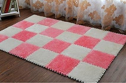 Tappeto Da Salotto Rosa : Filo elastico splicing tappeto del salotto può essere tagliato gomma