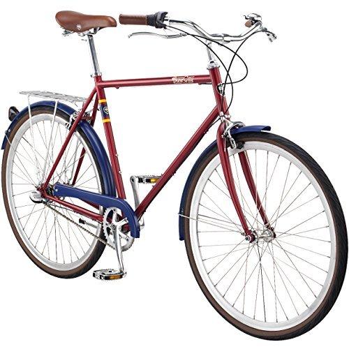 Pure City Classic Diamond Frame 3-Speed Bicycle 50cm/Small Meriwer Dark Red/Silver [並行輸入品] B078J2TYPQ