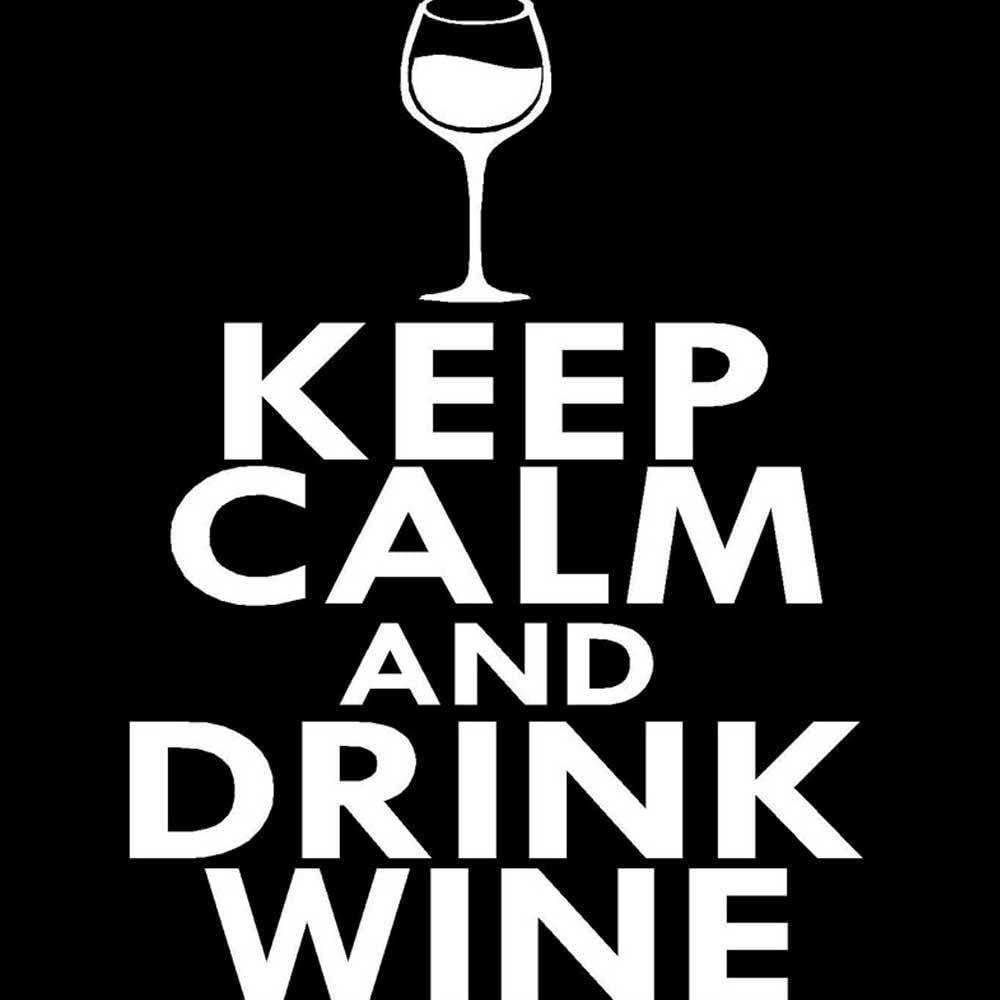 Sticker auto adesivo vetrofania pub bar enoteca KEEP CALM AND DRINK WINE vino