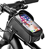 Bike Bicycle Phone Bags Waterproof - Front Frame Top Tube Mount Handlebar Bags with Touch Screen...