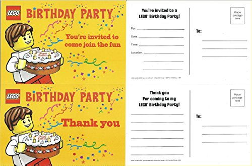 Lego Birthday Party Invitations - Pack of 10 Invitations]()