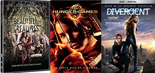 The Hunger Games / Divergent DVD + Beautiful Creatures - 3 Disc Fantasy Movie collection