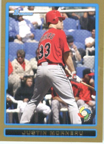 Justin Morneau - Canada (World Baseball Classic) 2009 Bowman Draft GOLD WBC Prospects Baseball Card # BDPW25 - MLB Baseball Trading Card