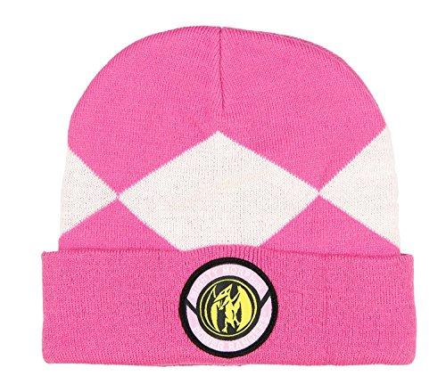Power Rangers Costume Beanie Hat (Pink Ranger), One Size (Power Rangers Costume Pink)