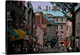 Nik Wheeler Premium Thick-Wrap Canvas Wall Art Print entitled Canada, Quebec, Quebec City, old Quebec, Rue St. Louis