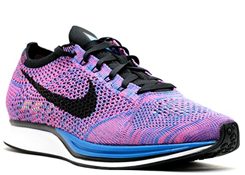 Nike Flyknit Racer Unisex Running Trainers 526628 Sneakers Shoes (10 D(M) US, Game Royal Black Pink Flash 400)