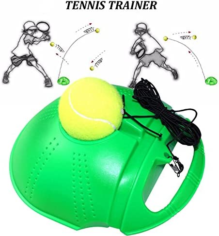 Suading Tennis Training Tool Ejercicio Pelota de Tenis Self Study Bola de Rebote con Tennis Trainer Skirting Sparring Device