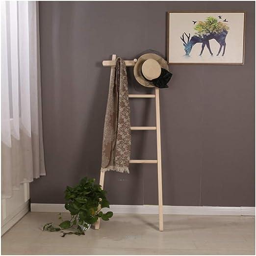 WEIBING -1 Perchero, Moderno Minimalista Escalera de madera maciza Perchero Rack Escalera de madera simple Creativo Escalera de madera maciza Percha Estante para colgar en la pared trapezoidal Percher: Amazon.es: Hogar