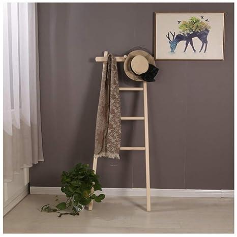 WEIBING -1 Perchero, Moderno Minimalista Escalera de madera ...