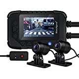 Blueskysea DV688 Motorcycle Dash Cam With GPS 1080p Dual Lens Motorcycle Recording Camera 2.35 LCD IP67 Waterproof Screen 130 Degree Angle Night Vision Latest Version