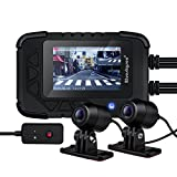 Blueskysea DV688 Motorcycle Dash Cam 1080p Dual Lens Motorcycle Recording Camera 2.35″ LCD IP67 Waterproof Screen 130 Degree Angle Night Vision Latest Version