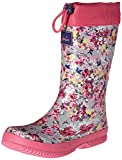 Joules Kid's Winter Welly Rain Boot, Aluminum Ditsy, 1 M US Little Kid
