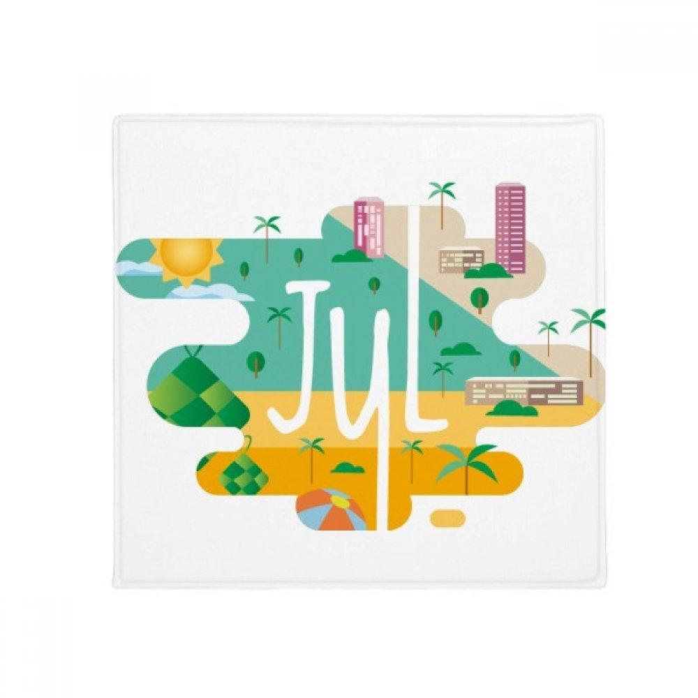 DIYthinker July Month Season Illustration Anti-Slip Floor Pet Mat Square Home Kitchen Door 80Cm Gift
