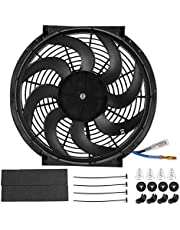 Radiator Cooling Fan, 14in 90W Universal Electric Radiator Cooling Fan Car Modified Parts with Mounting Kit