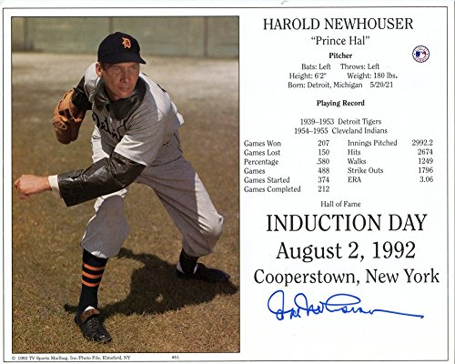 Harold Newhouser Detroit Tigers Signed 8x10 Photo - Certified (Detroit Tigers Mlb Hand Signed)