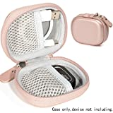 Hard Protective case for Golf GPS by CaseSack, Specially Designed for GolfBudy Voice, Voice 2, Bushnell NeoGhost, Mesh Pouches on Both lid and Base for GPS and Cable separatedly (Rose Gold)